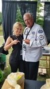 Erin poses with Chef Mitchell