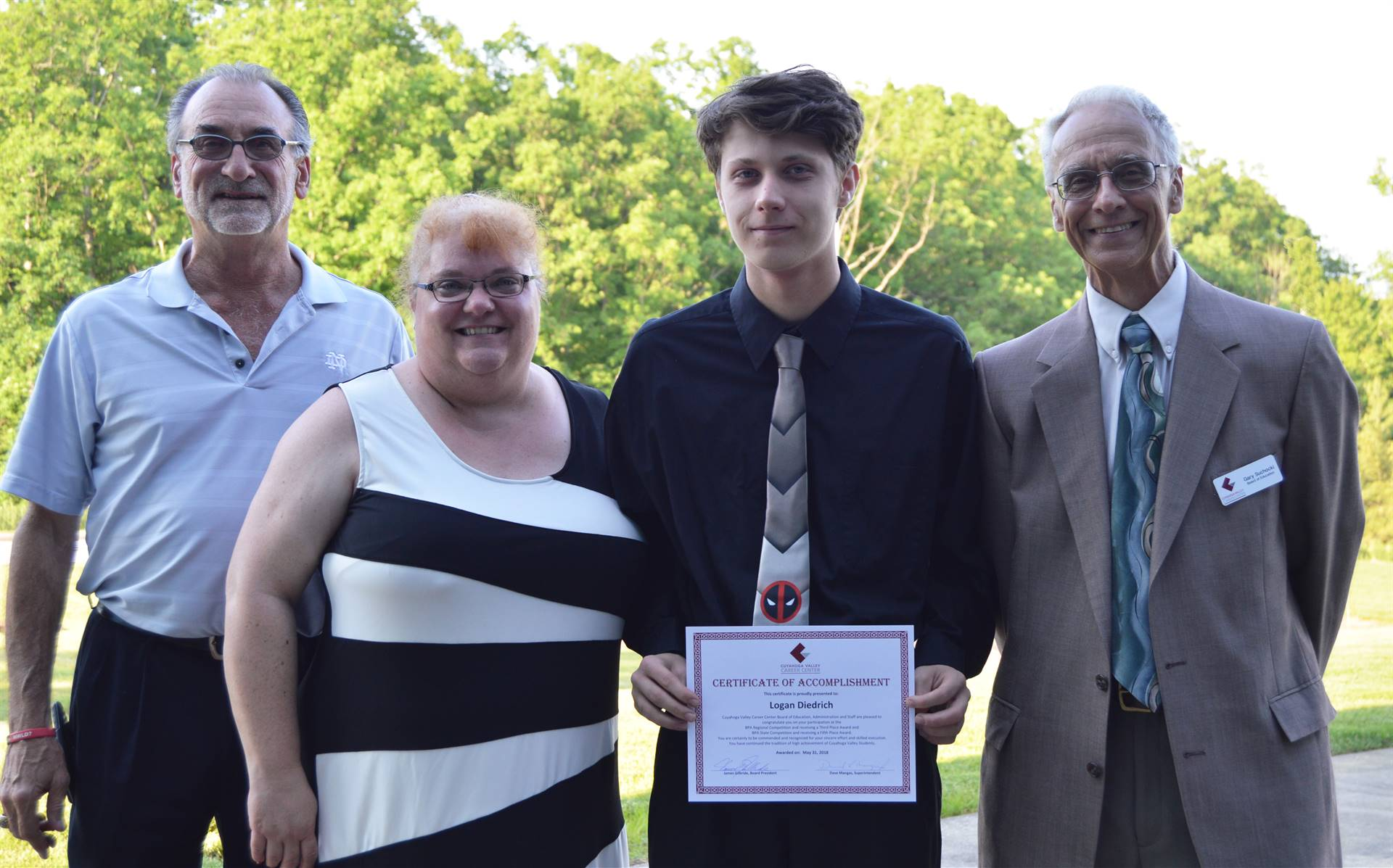 Cuyahoga Heights student, parent, and Board members