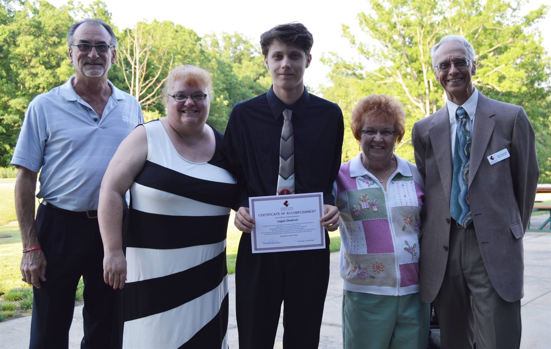 Cuyahoga Heights student, family, and Board members