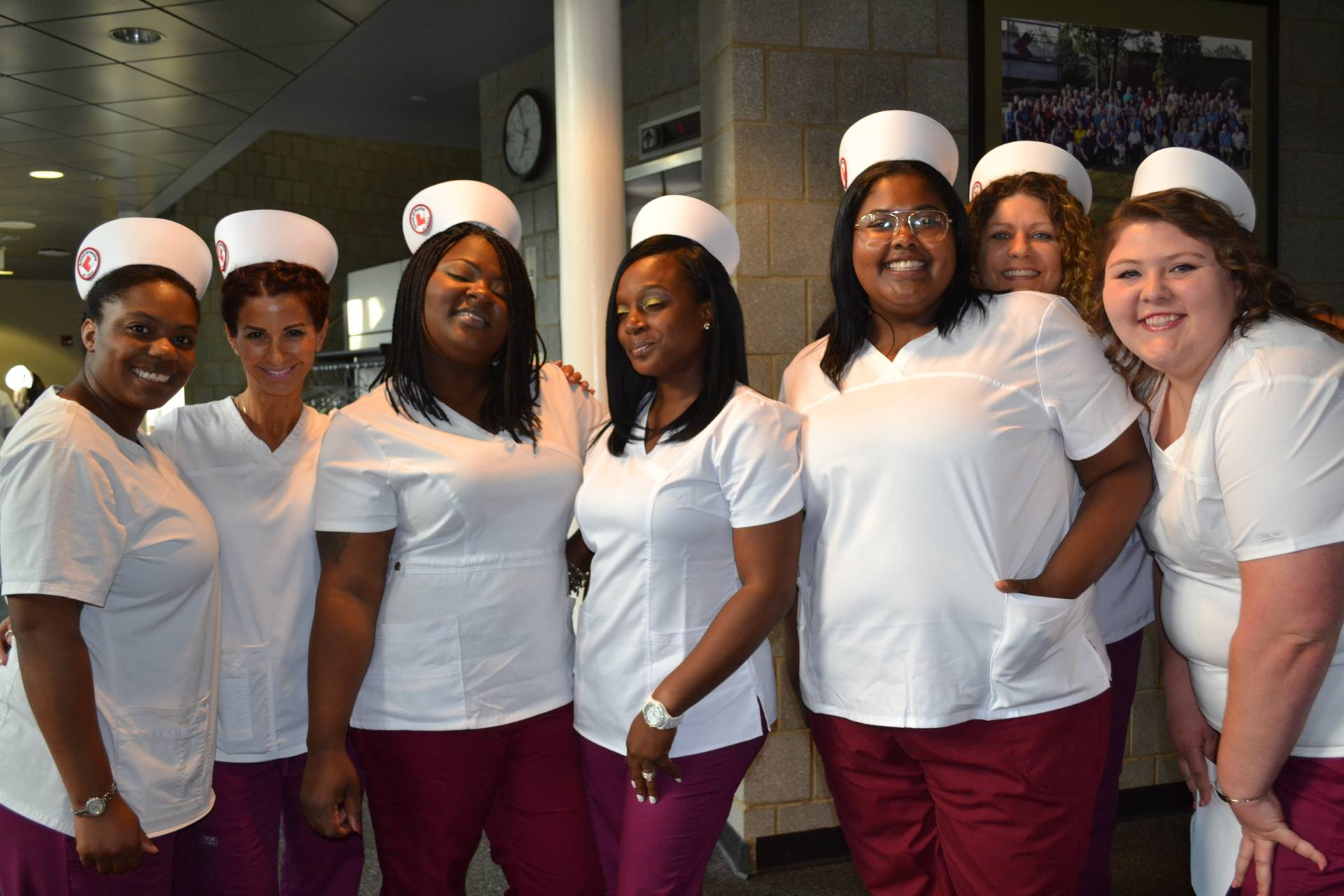 Nursing students at graduation ceremony June 7, 2018