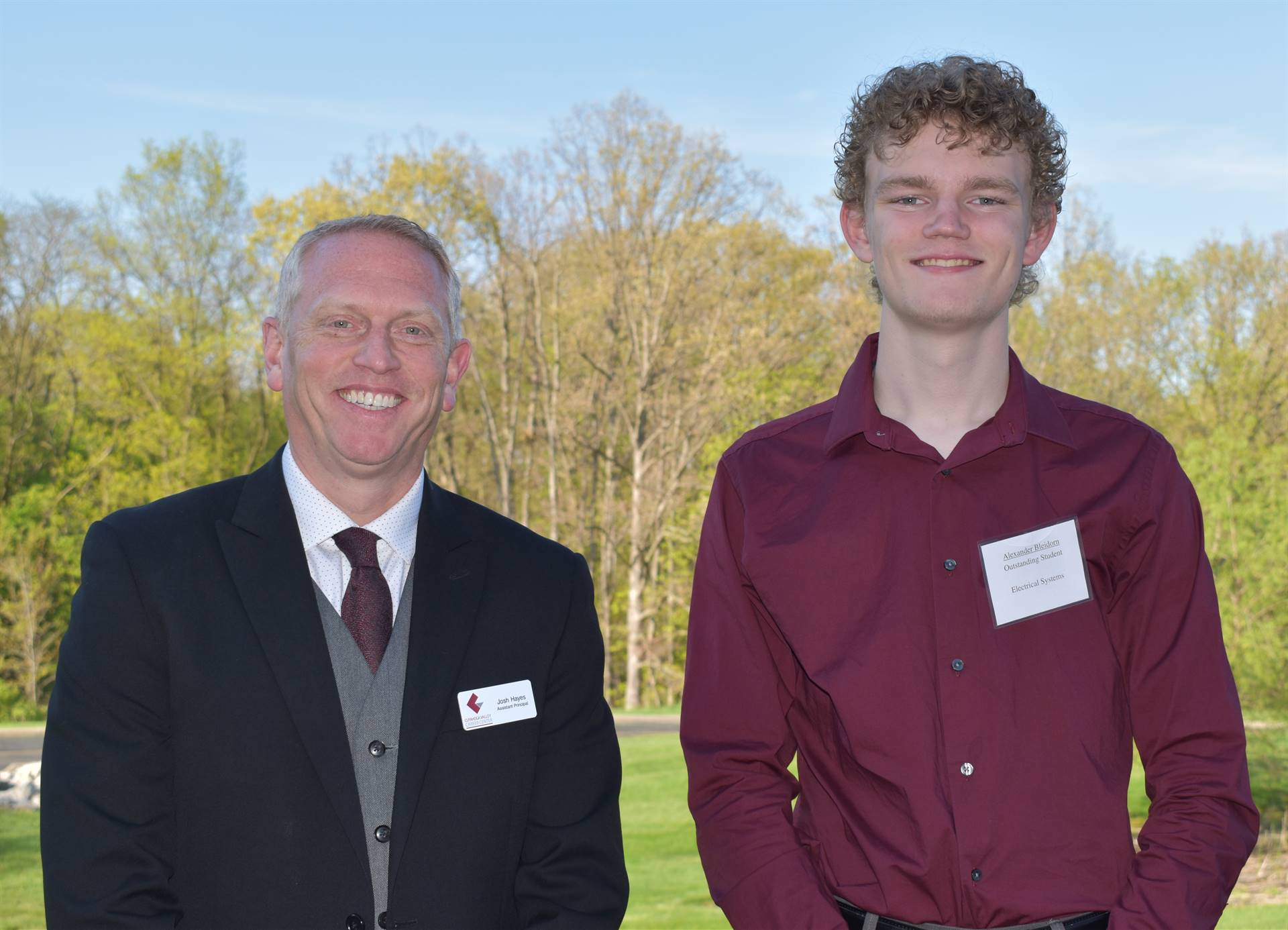 student and assistant principal