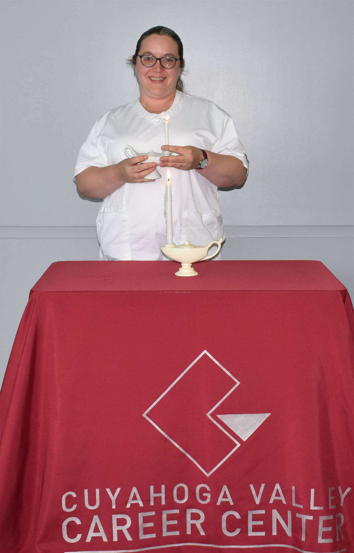 Part-time Nursing Student at Candlelighting Ceremony June 2021