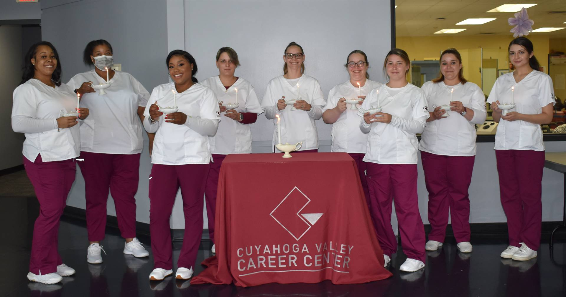 Part-time Nursing Students at Candlelighting Ceremony June 2021